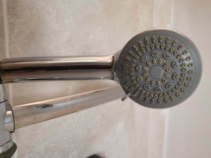 shower head before/after